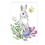 Pretty Easter Bunny Postcards (Package of 8)