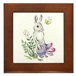 Pretty Easter Bunny Framed Tile