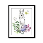 Pretty Easter Bunny Framed Panel Print