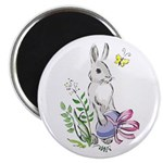 Pretty Easter Bunny Magnet