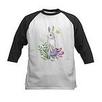 Pretty Easter Bunny Kids Baseball Jersey
