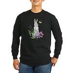 Pretty Easter Bunny Long Sleeve Dark T-Shirt
