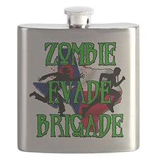 Zombie Evade Brigade Logo Flask