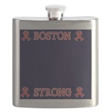 Boston Strong Ribbon Flask