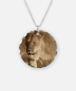 African Lioness Necklace