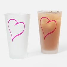 Baby Girl Handprint Drinking Glass