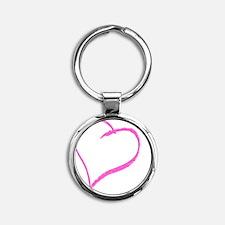 Baby Girl Handprint Round Keychain