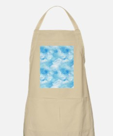 Long Blue Sky Puffy White Clouds Apron