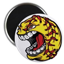 Havoc Screaming Softball Magnet