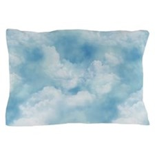 3x5 Blue Sky and White Puffy Clouds Pillow Case