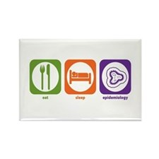 Eat Sleep Epidemiology Rectangle Magnet