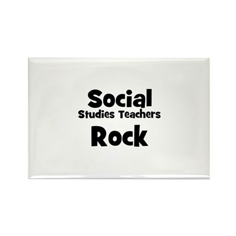 Social Studies Teachers Rock Rectangle Magnet