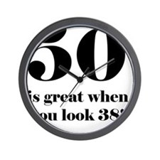 50th Birthday Humor Wall Clock