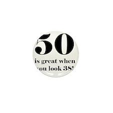 50th Birthday Humor Mini Button