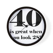 40th Birthday Humor Wall Clock