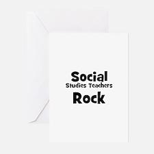 Social Studies Teachers Rock Greeting Cards (Packa