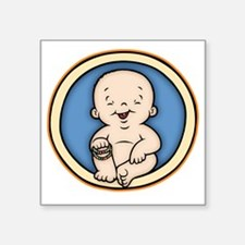 "buddha-womb-T Square Sticker 3"" x 3"""