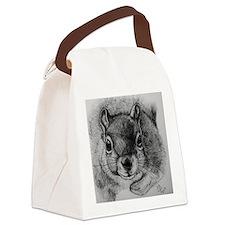 Squirrel Sketch 2 Canvas Lunch Bag