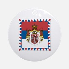 Grb Srbije/Serbian Coat of arms Ornament (Round)