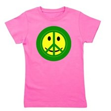 Button-Large Girl's Tee