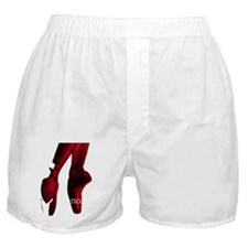 Red Pointe Shoes Boxer Shorts