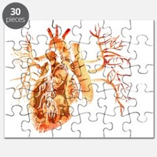 Virgin of Guadalupe in Real heart Puzzle