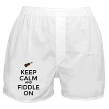 Keep Calm and Fiddle On Boxer Shorts
