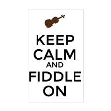 Keep Calm and Fiddle On Decal