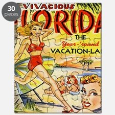 Vintage Florida Vacation Land Puzzle