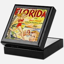 Vintage Florida Vacation Land Keepsake Box
