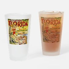 Vintage Florida Vacation Land Drinking Glass