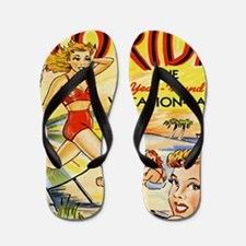 Vintage Florida Vacation Land Flip Flops