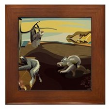 Persistence of Sloths Framed Tile