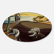 Persistence of Sloths Sticker (Oval)