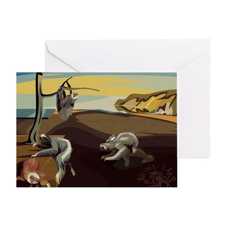 Persistence of Sloths Greeting Card