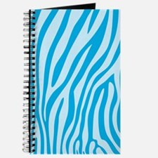 Baby Blue Zebra Print Journal