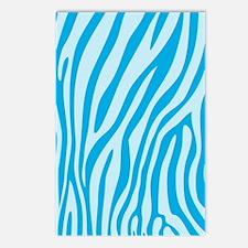 Baby Blue Zebra Print Postcards (Package of 8)