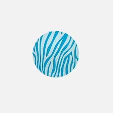 Baby Blue Zebra Print Mini Button