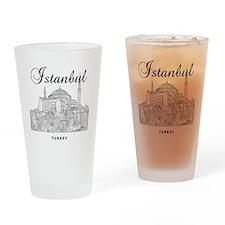 Istanbul_12X12_HagiaSophia_Black Drinking Glass