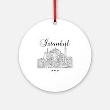 Istanbul_12X12_HagiaSophia_Black Round Ornament