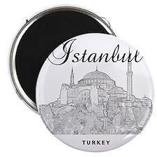 Istanbul_12X12_HagiaSophia_Black Magnet