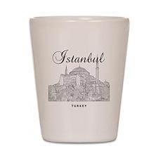 Istanbul_12X12_HagiaSophia_Black Shot Glass