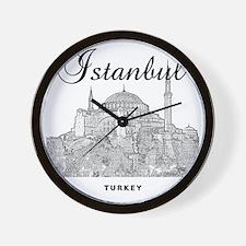 Istanbul_12X12_HagiaSophia_Black Wall Clock