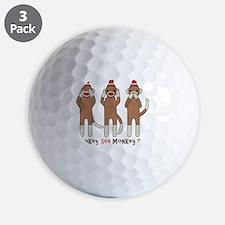 Monkey See Monkey Do Golf Ball