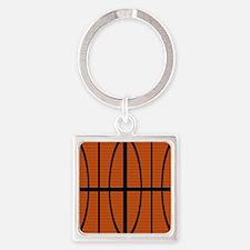 Basketball Square Keychain