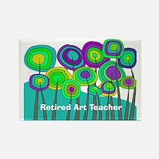 Retired Teacher G art Rectangle Magnet