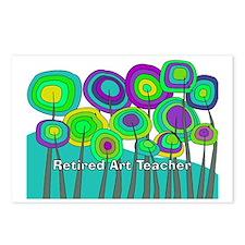 retired teacher H art Postcards (Package of 8)
