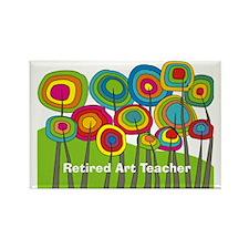 Retired Teacher E art Rectangle Magnet