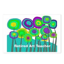 Retired Teacher G art Postcards (Package of 8)