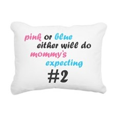 Pink or Blue Rectangular Canvas Pillow